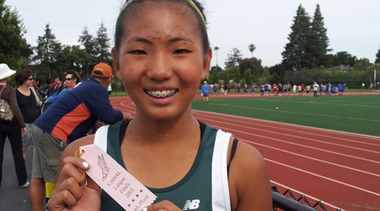 Annalisa Pao at 2013 VJHSAL Track League Finals