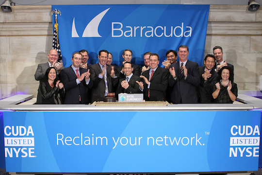 Barracuda opening the NYSE