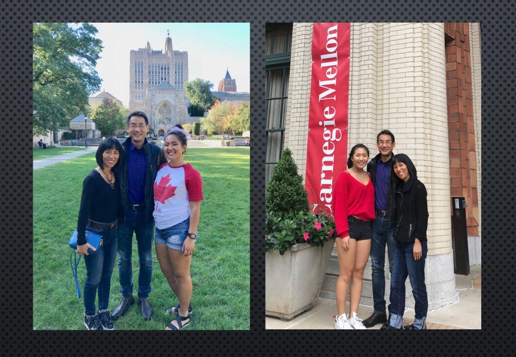 Stephen and Marsha visiting Christina at Yale and Annalisa at Carnegie Mellon