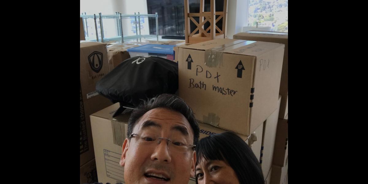 Stephen and Marsha in new Portland condo