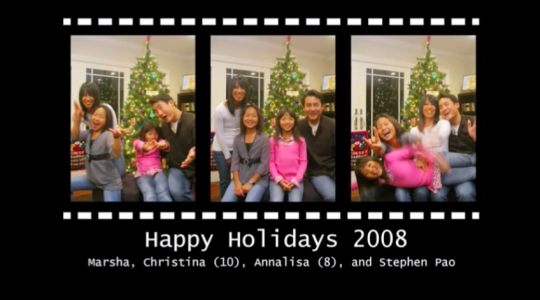 Seasons Greetings 2008 from the Pao Family